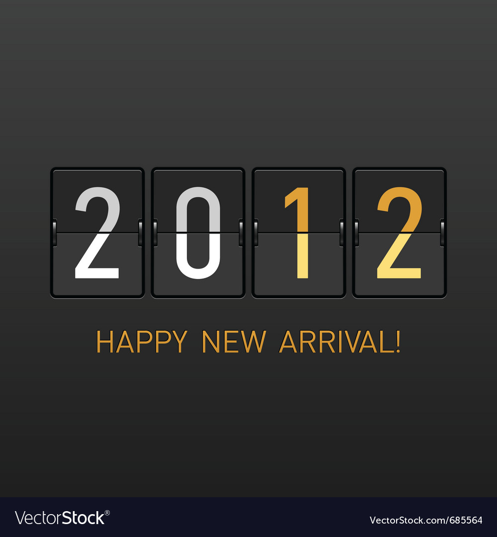 New year arrival 2012 vector | Price: 1 Credit (USD $1)