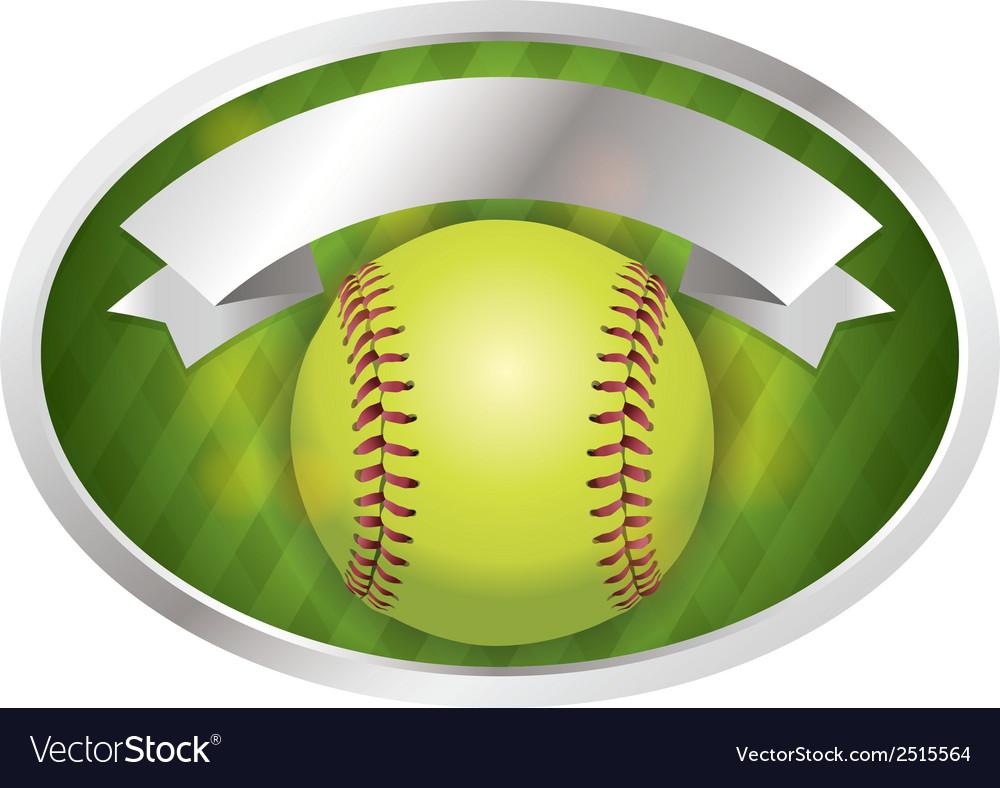 Softball emblem vector | Price: 1 Credit (USD $1)