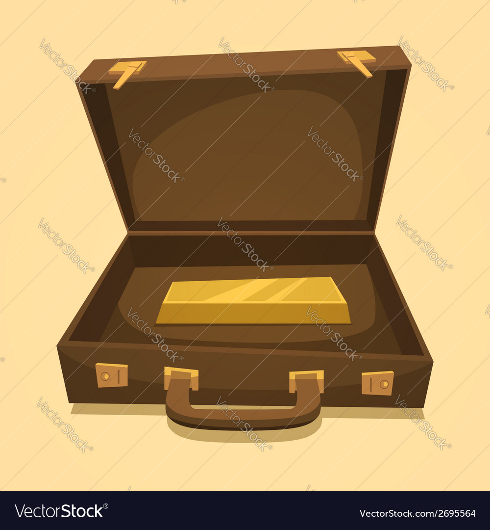Suitcase with gold bullion vector | Price: 1 Credit (USD $1)