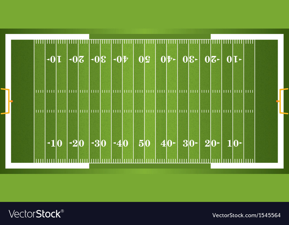 Textured grass american football field vector | Price: 1 Credit (USD $1)