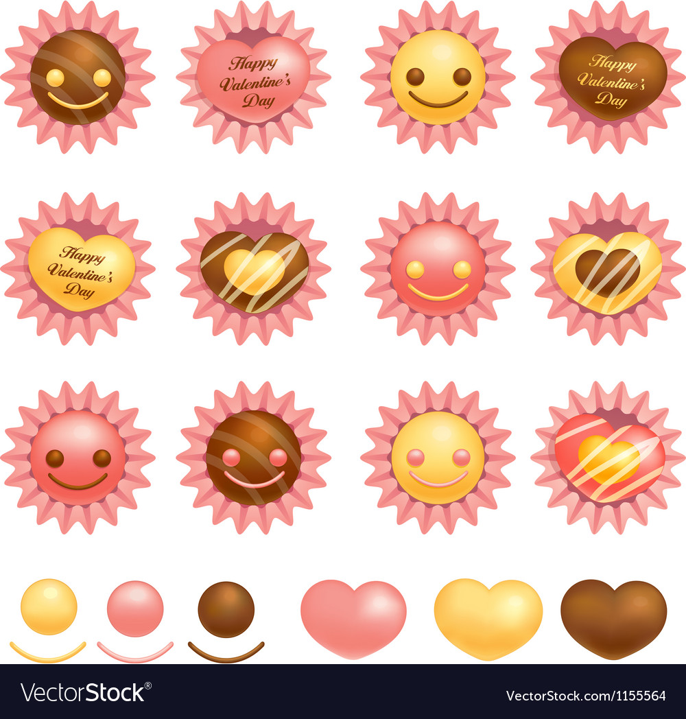 Various packing chocolate vector | Price: 1 Credit (USD $1)