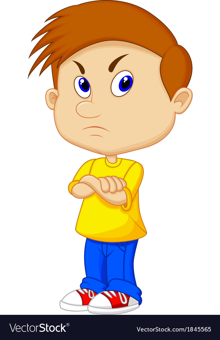 Angry boy cartoon vector | Price: 1 Credit (USD $1)