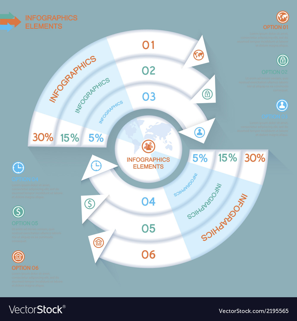 Business infographics circle with arrows for vector | Price: 1 Credit (USD $1)