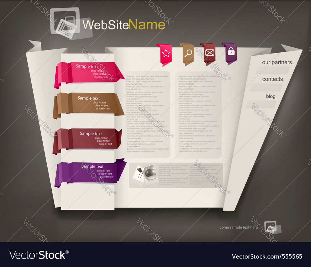 Business website design vector | Price: 3 Credit (USD $3)
