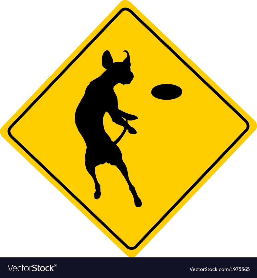 Dog agility warning sign vector | Price: 1 Credit (USD $1)