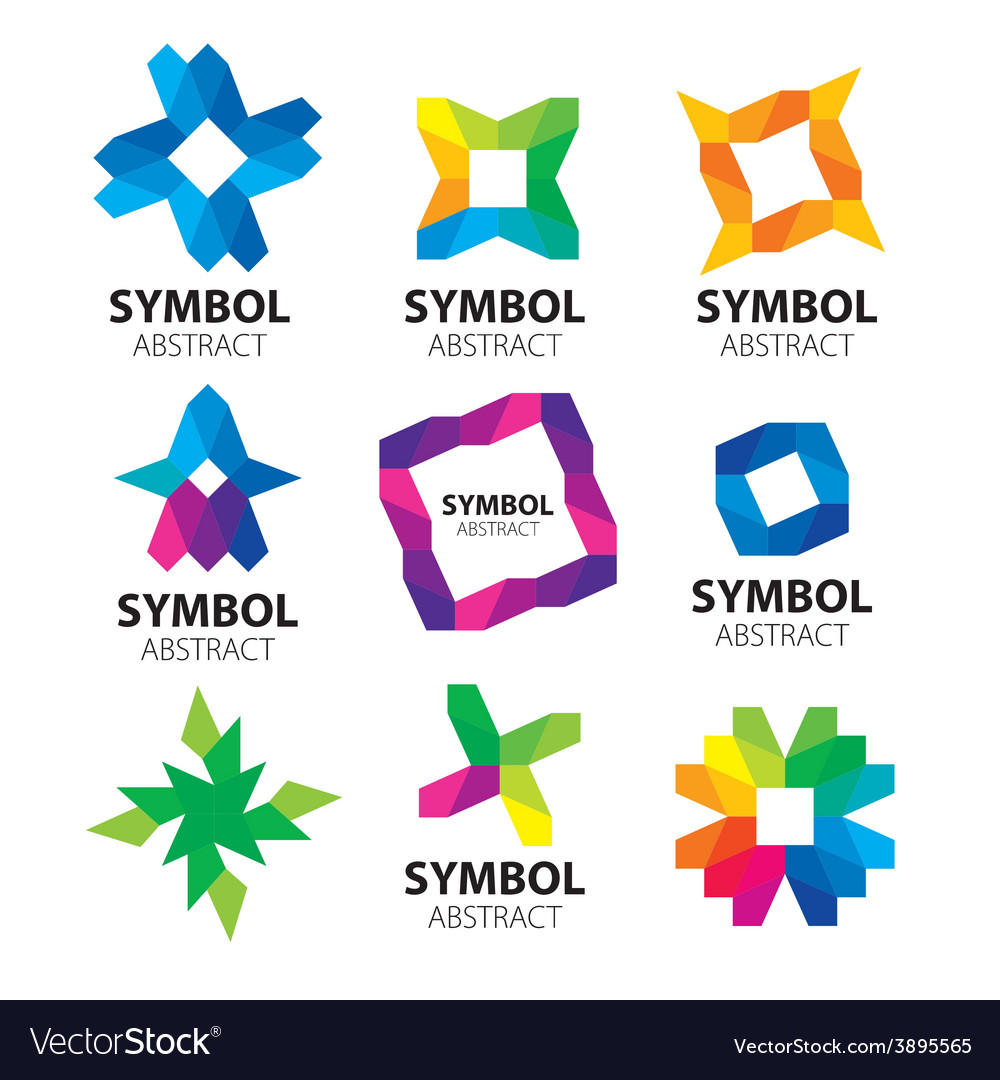 Large collection of abstract logos of the modules vector | Price: 1 Credit (USD $1)