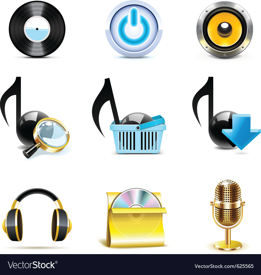 Music icons - bella series vector | Price: 3 Credit (USD $3)