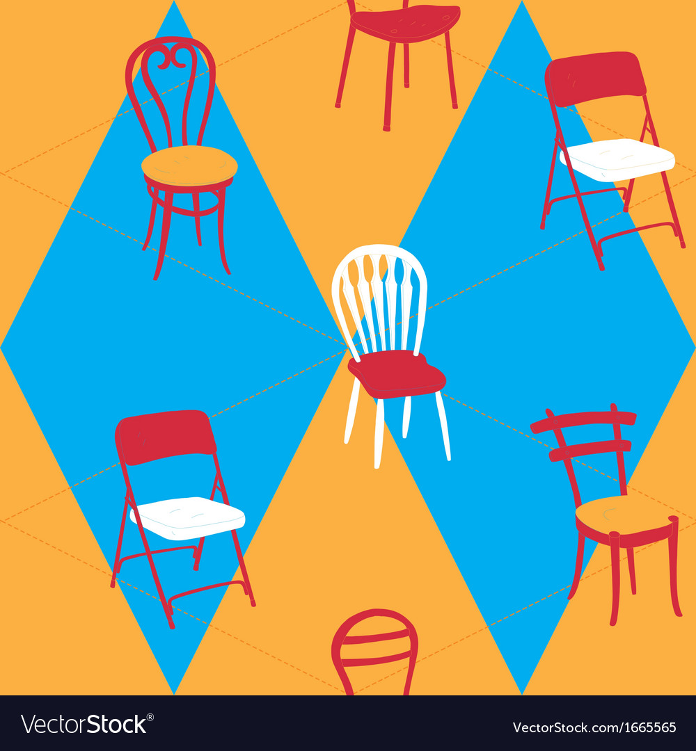 Seamless pattern with chairs vector | Price: 1 Credit (USD $1)
