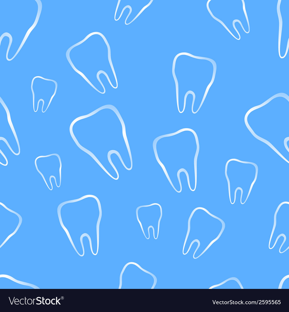 Seamless pattern with tooth vector | Price: 1 Credit (USD $1)