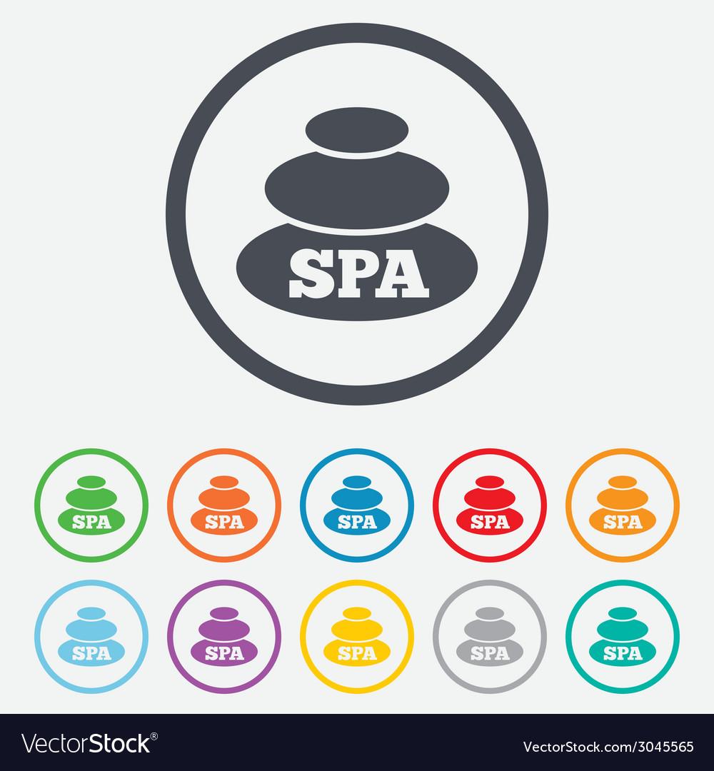 Spa sign icon spa stones symbol vector | Price: 1 Credit (USD $1)