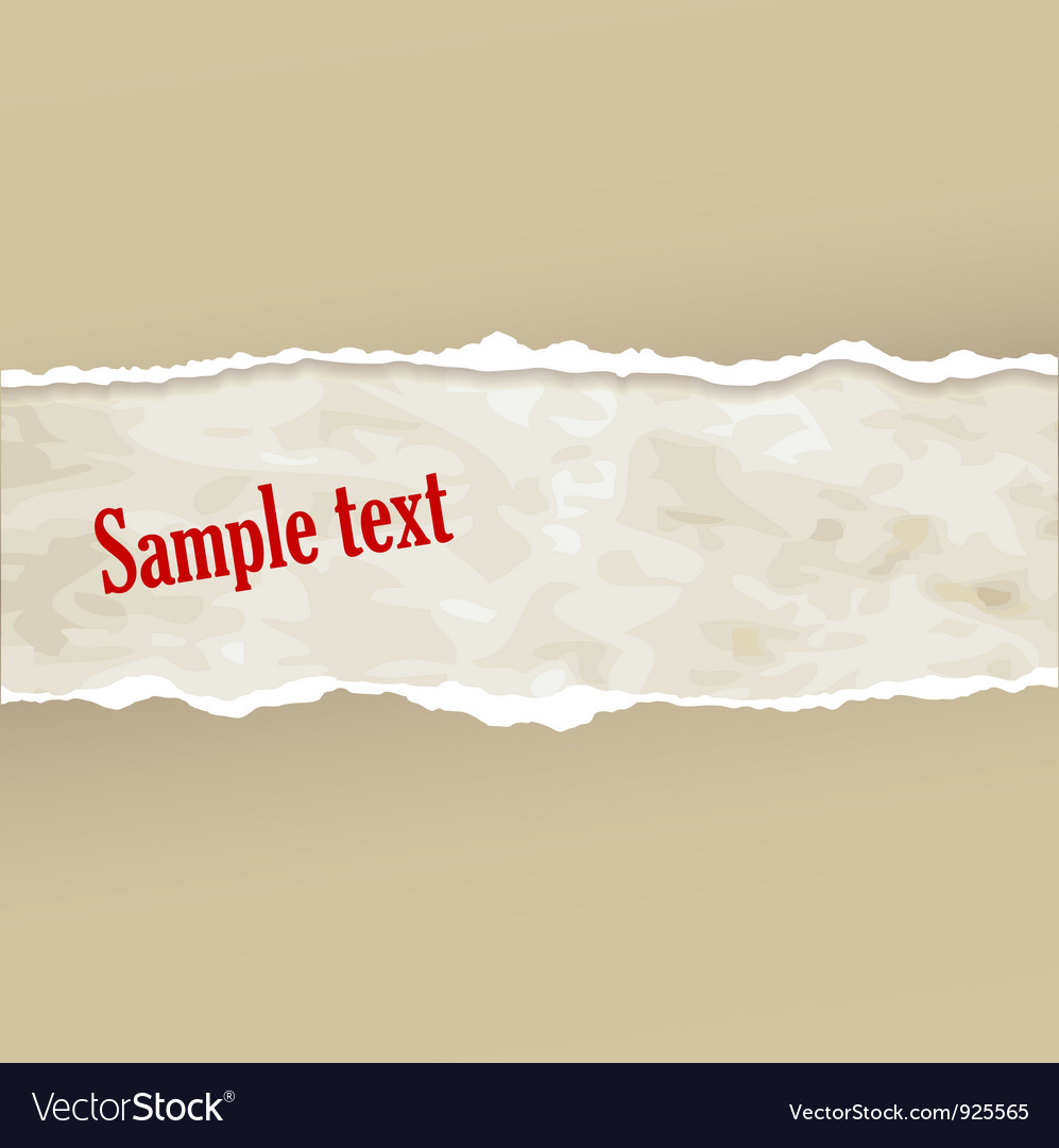 Tear paper vector | Price: 1 Credit (USD $1)
