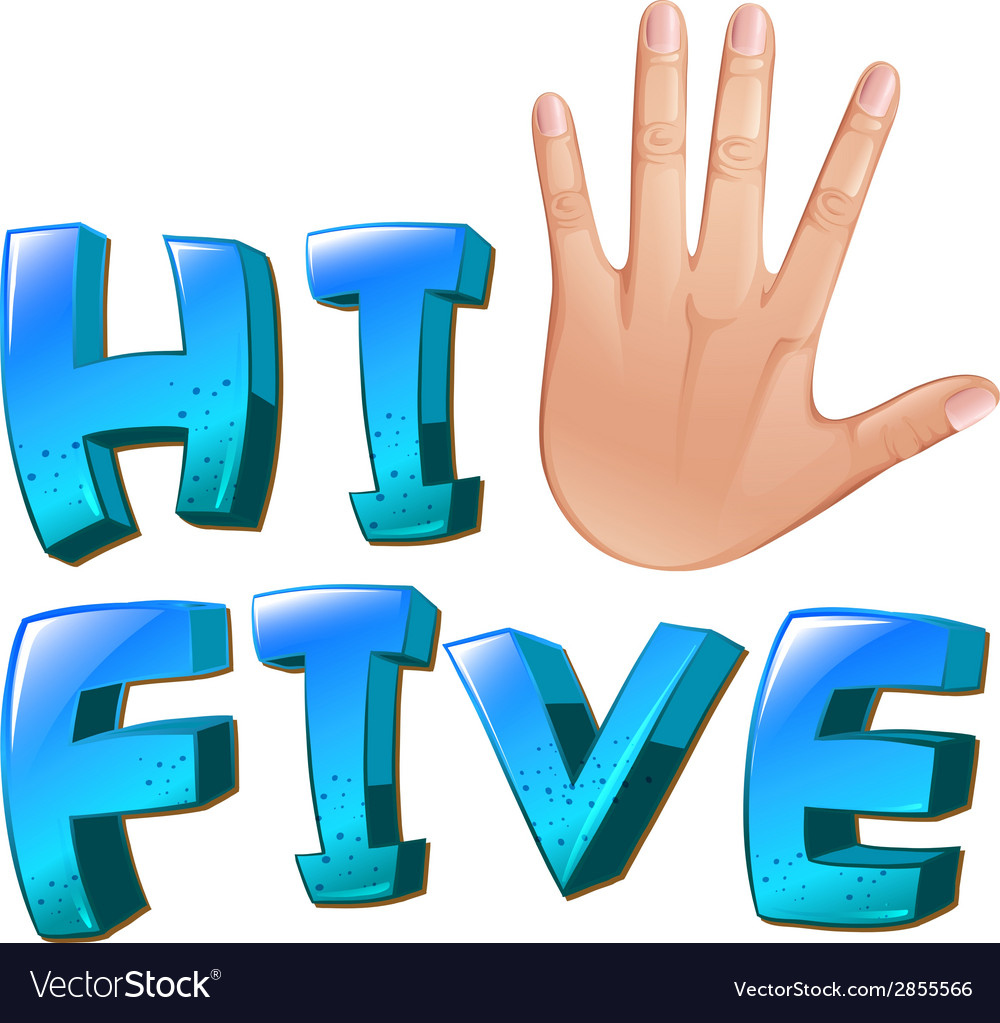 A hi-five artwork with a palm vector | Price: 1 Credit (USD $1)