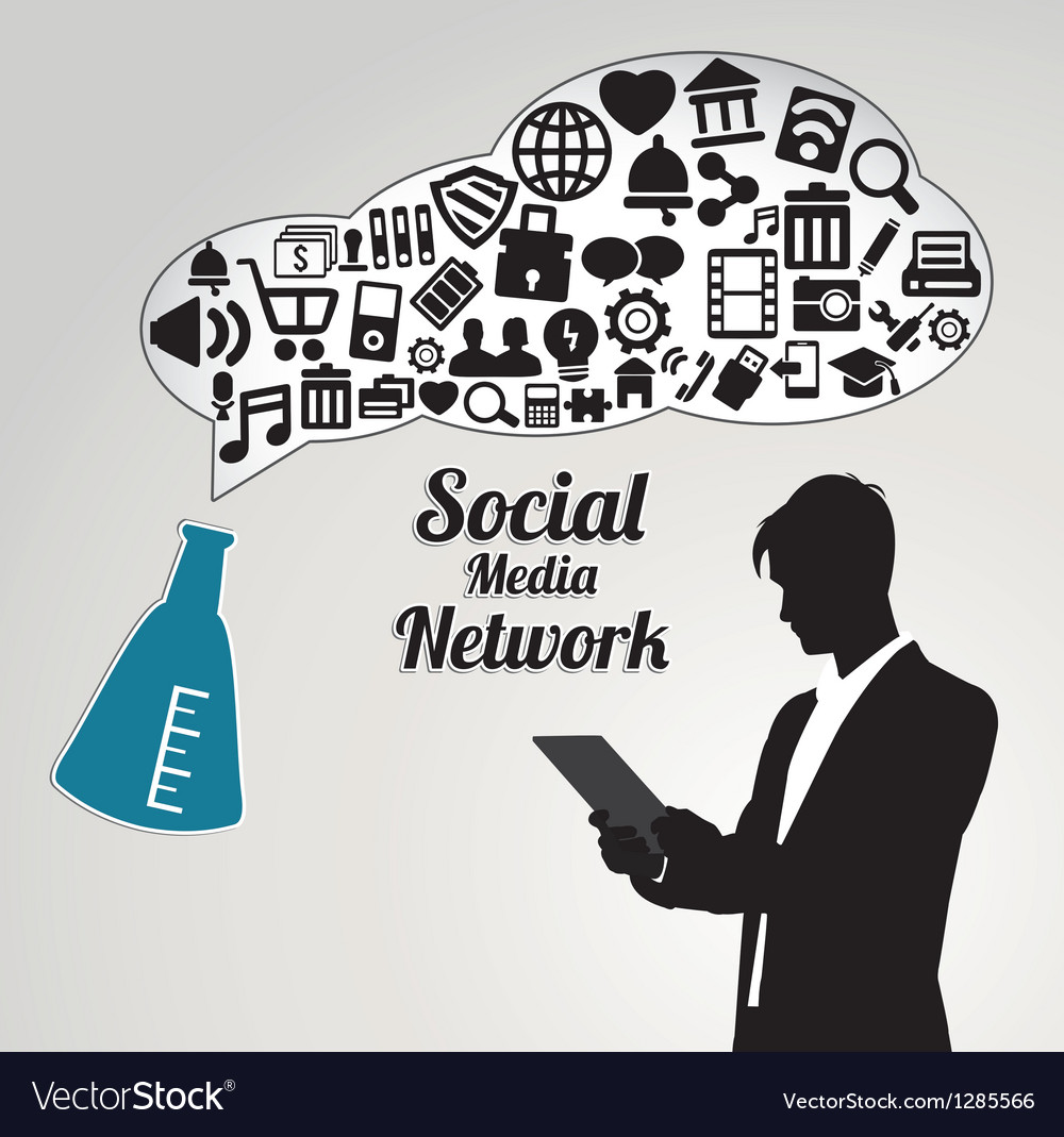 Abstract concept of social media networwork vector | Price: 1 Credit (USD $1)