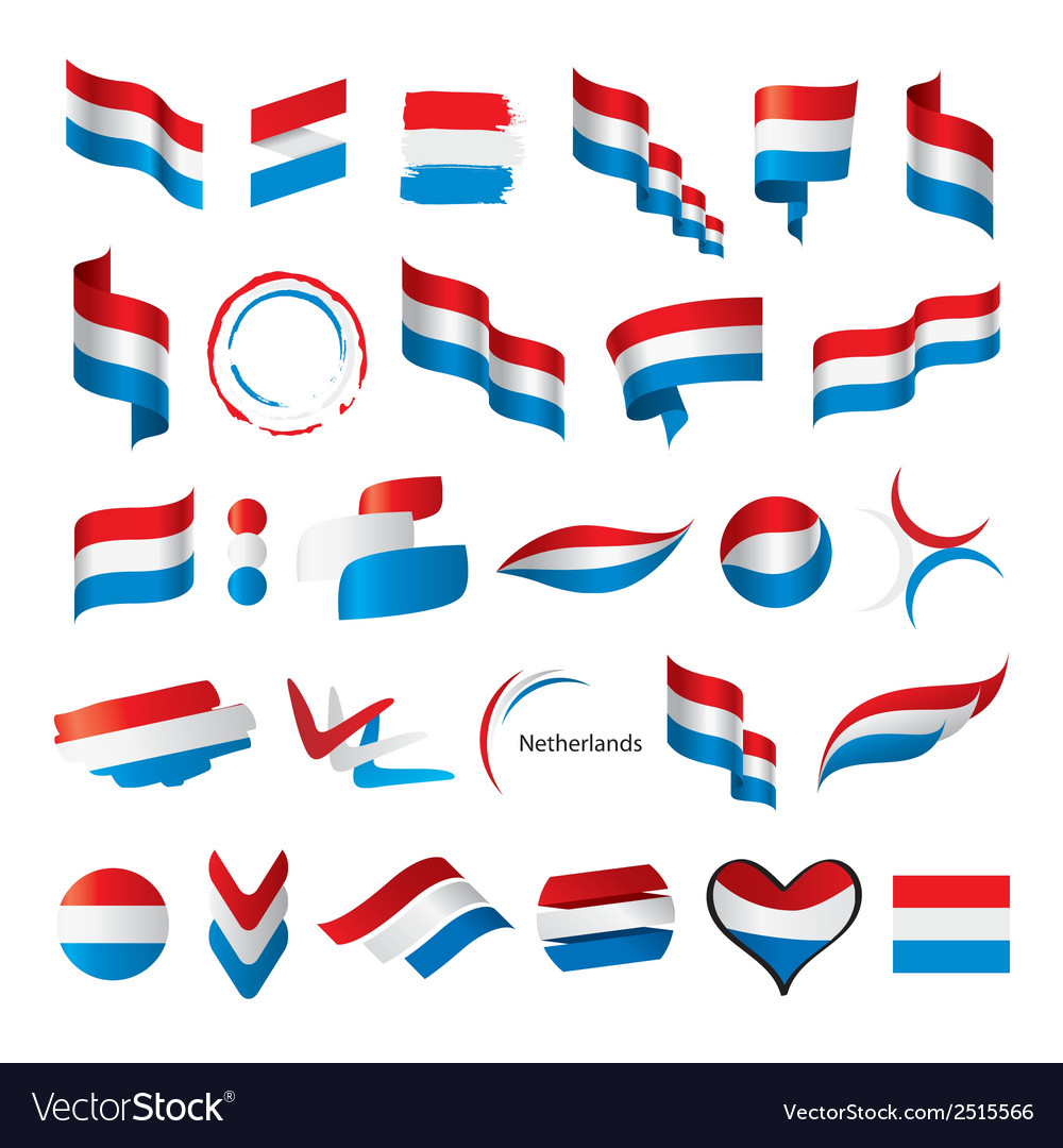 Biggest collection of flags of netherlands vector | Price: 1 Credit (USD $1)