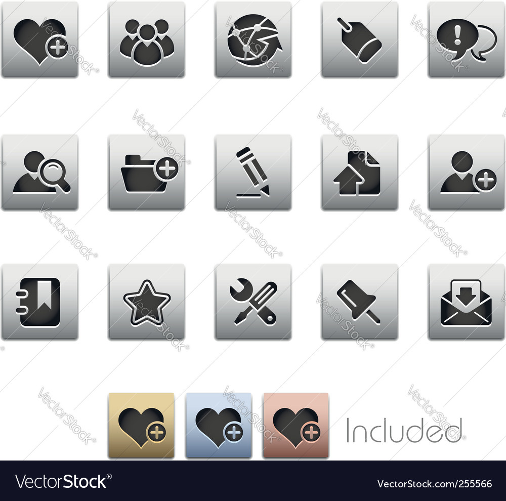 Blog and internet icons vector | Price: 1 Credit (USD $1)