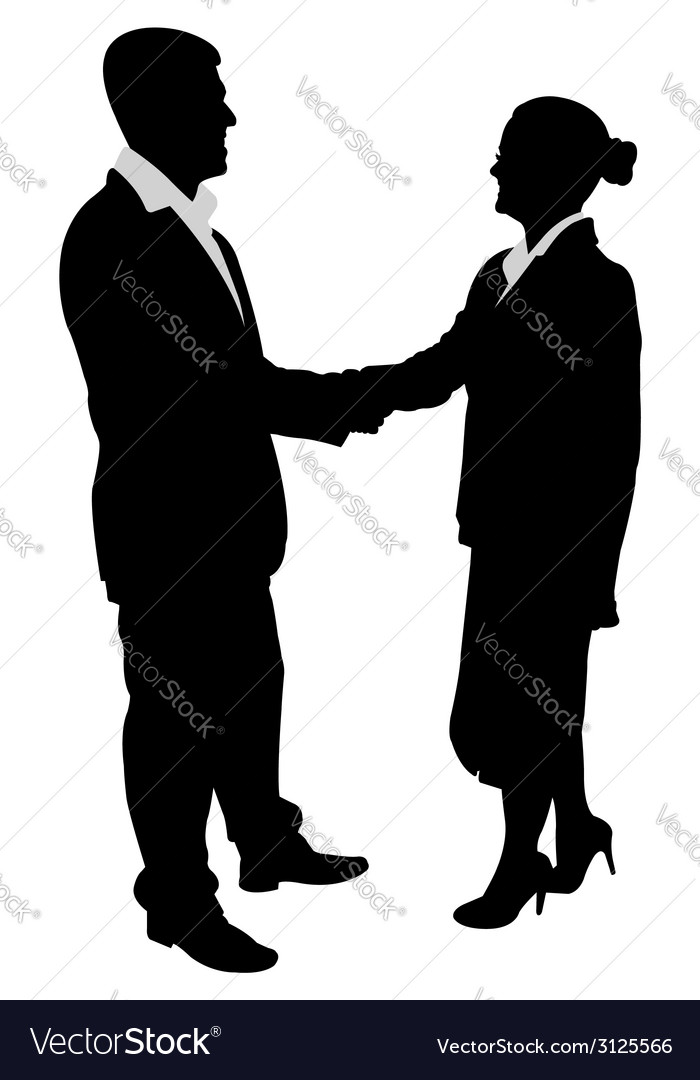 Business people handshake vector | Price: 1 Credit (USD $1)