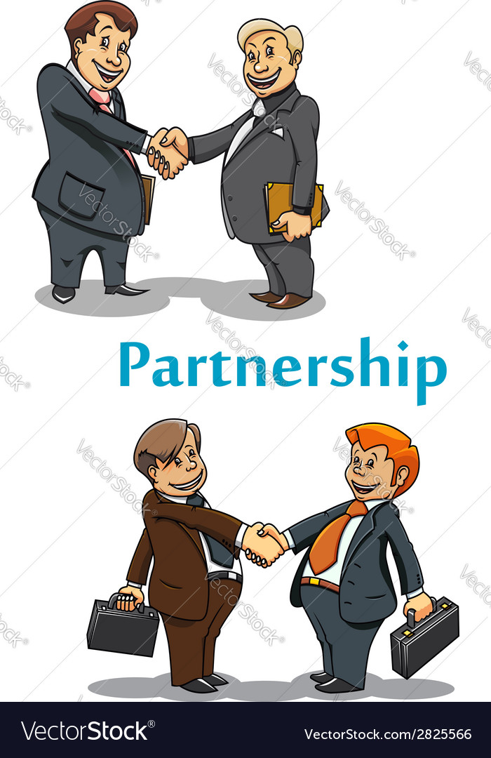 Businessman handshake and partnership vector | Price: 1 Credit (USD $1)