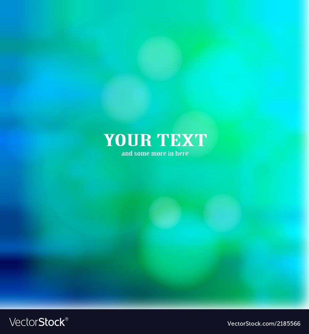 Colorful blue bokeh background vector | Price: 1 Credit (USD $1)
