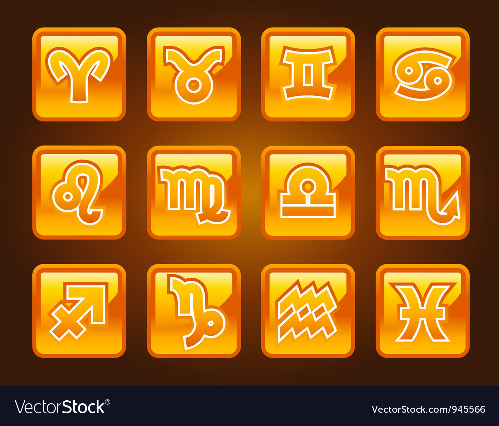 Horoscope buttons vector | Price: 1 Credit (USD $1)