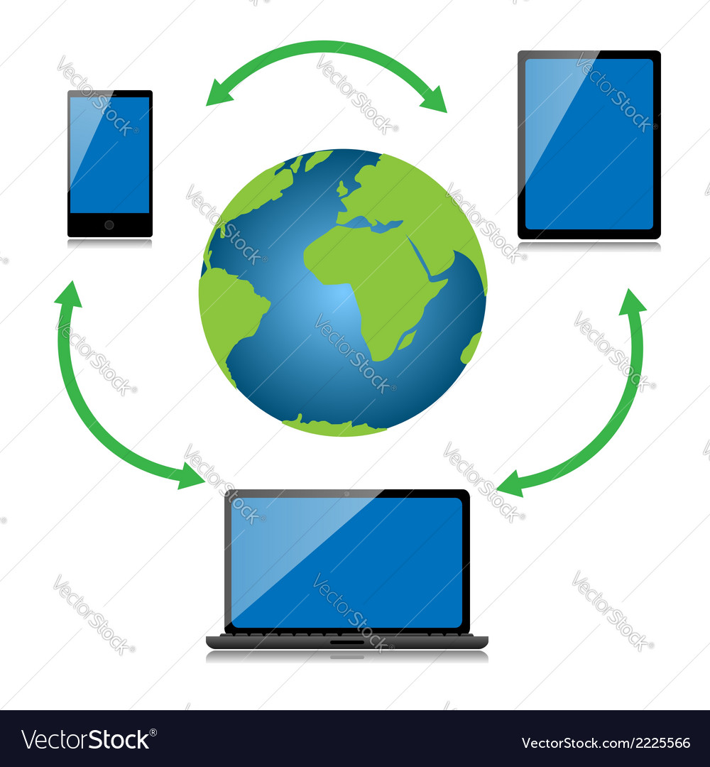 Internet technology vector | Price: 1 Credit (USD $1)