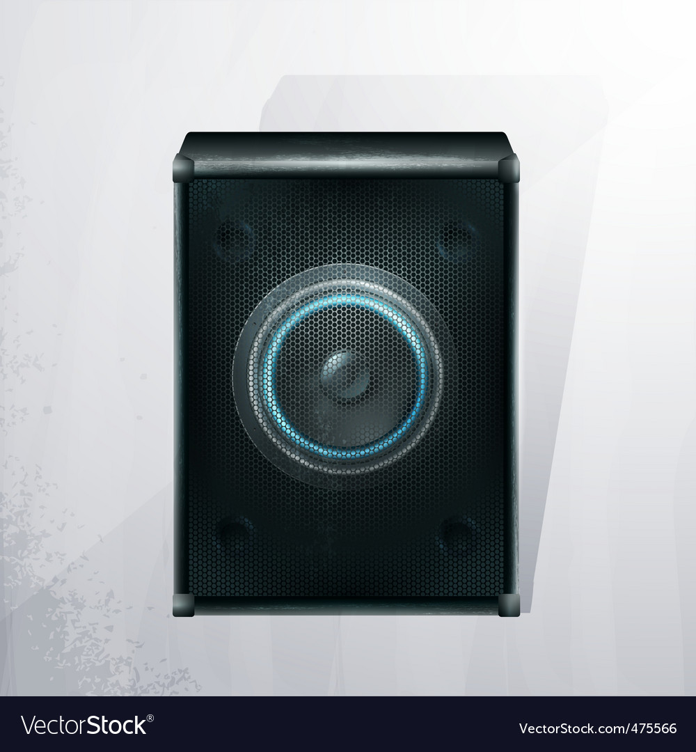 musical speaker icon vector | Price: 1 Credit (USD $1)
