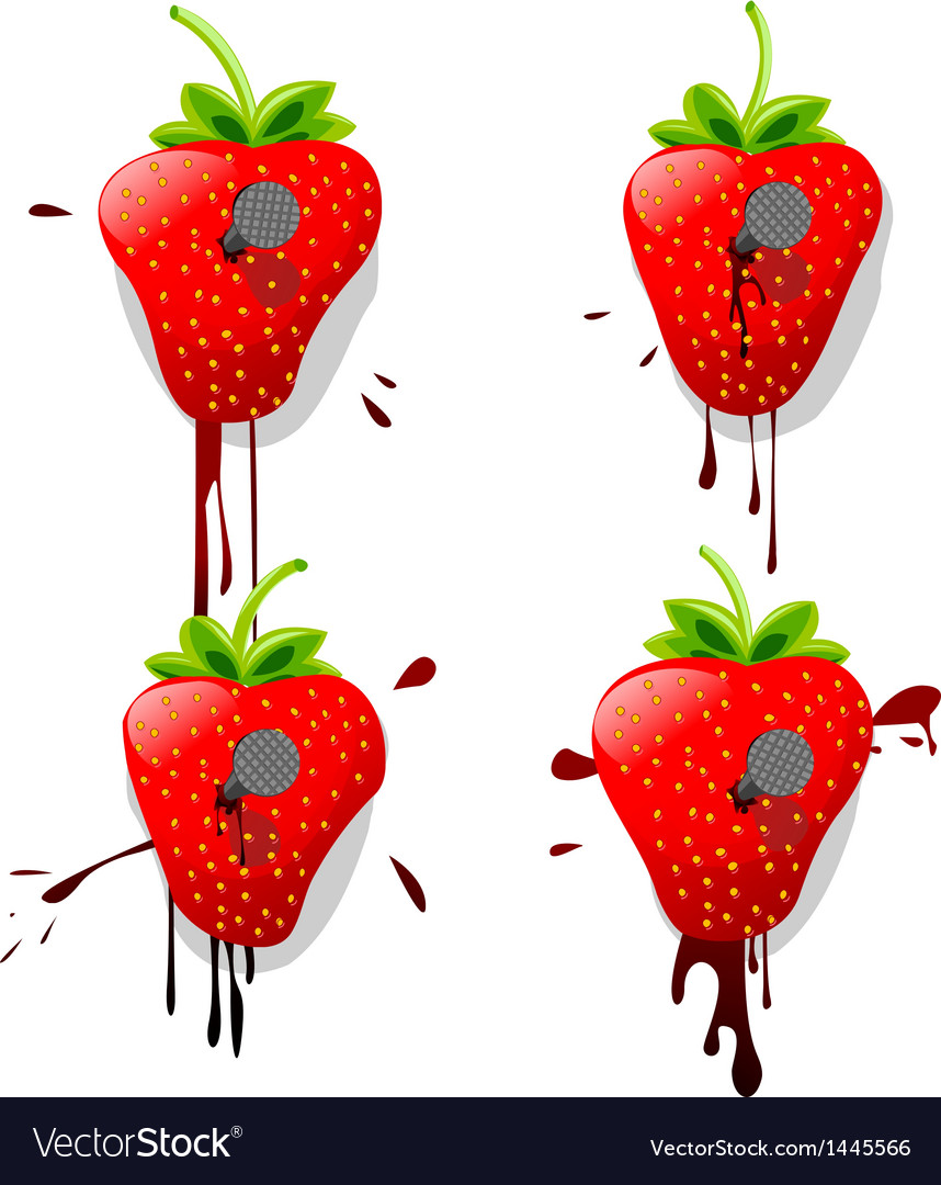 Pinned strawberries vector | Price: 1 Credit (USD $1)