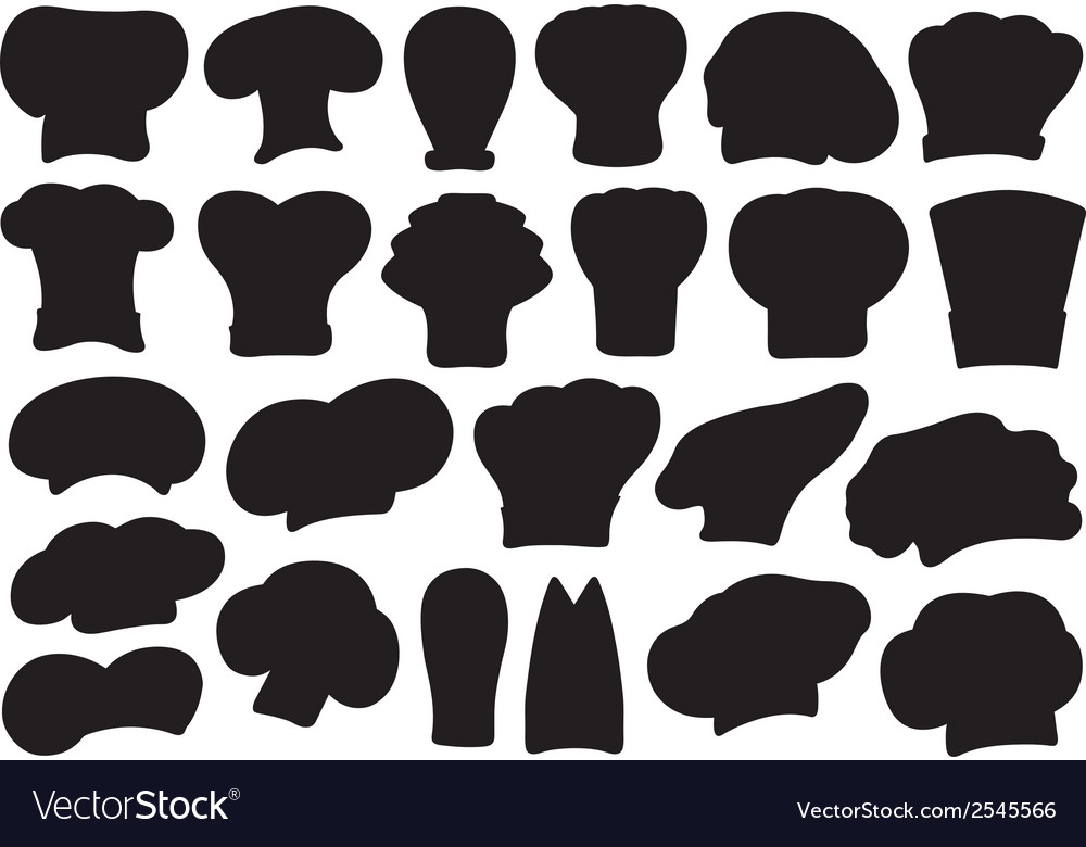 Set of different chef hats vector | Price: 1 Credit (USD $1)