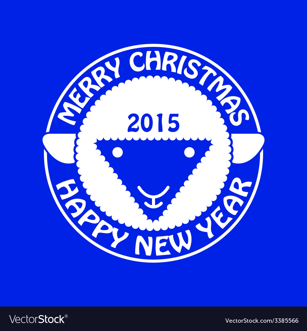 Sheep new year card vector | Price: 1 Credit (USD $1)
