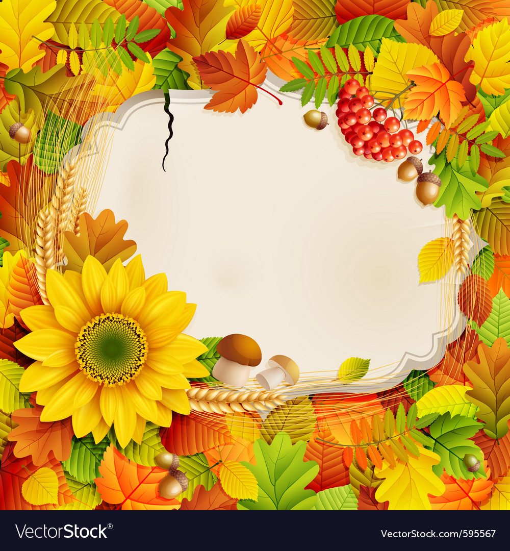 Autumn vintage greeting card vector | Price: 5 Credit (USD $5)