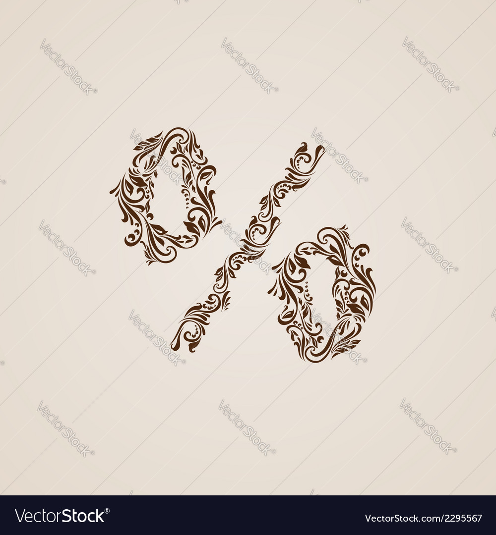 Decorated percent sign vector | Price: 1 Credit (USD $1)