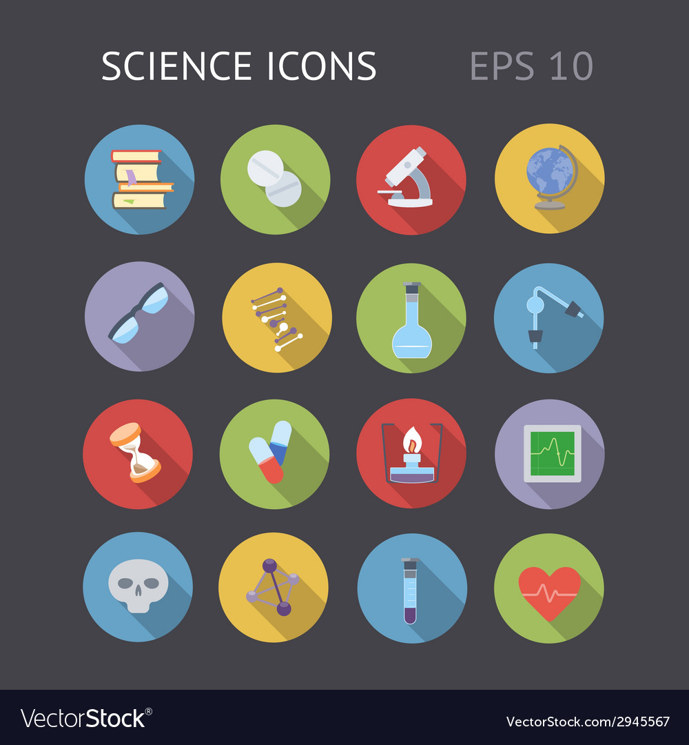 Flat icons for science and education vector | Price: 1 Credit (USD $1)