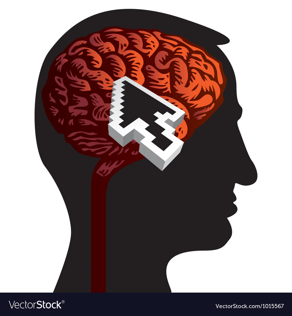Human head with brain vector | Price: 1 Credit (USD $1)