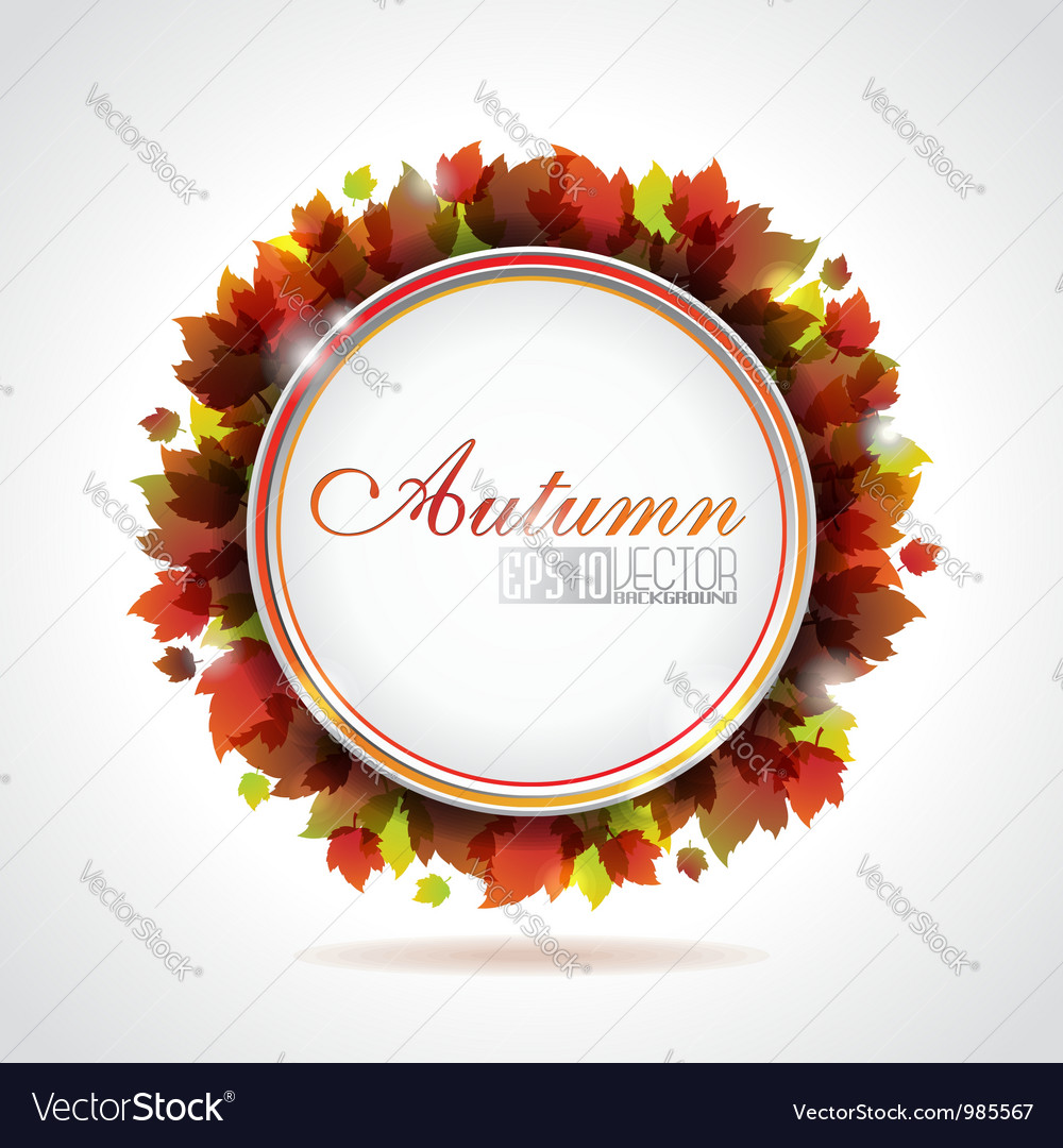 Leaves background with copy space vector | Price: 1 Credit (USD $1)