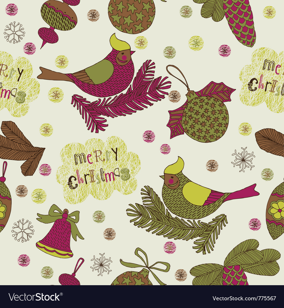 Merry christmas drawing vector | Price: 1 Credit (USD $1)