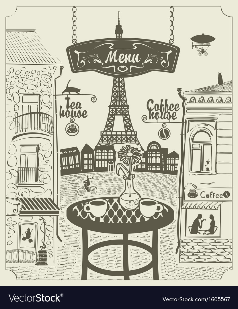 Parisian restaurant vector | Price: 1 Credit (USD $1)