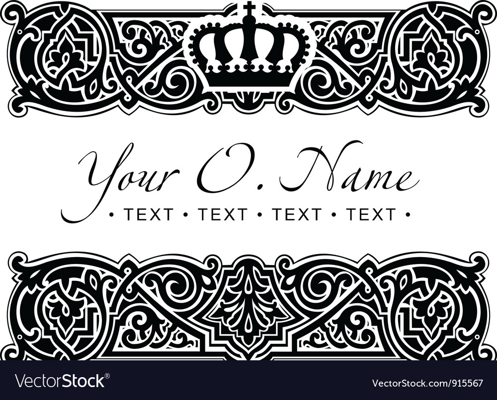 Small title frame and pattern vector | Price: 1 Credit (USD $1)