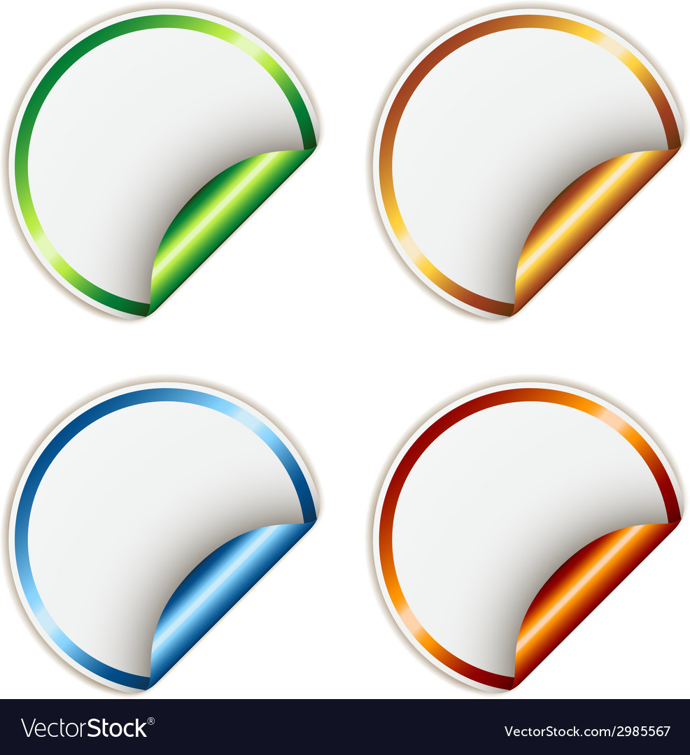 Stickers with metallic backs vector | Price: 1 Credit (USD $1)