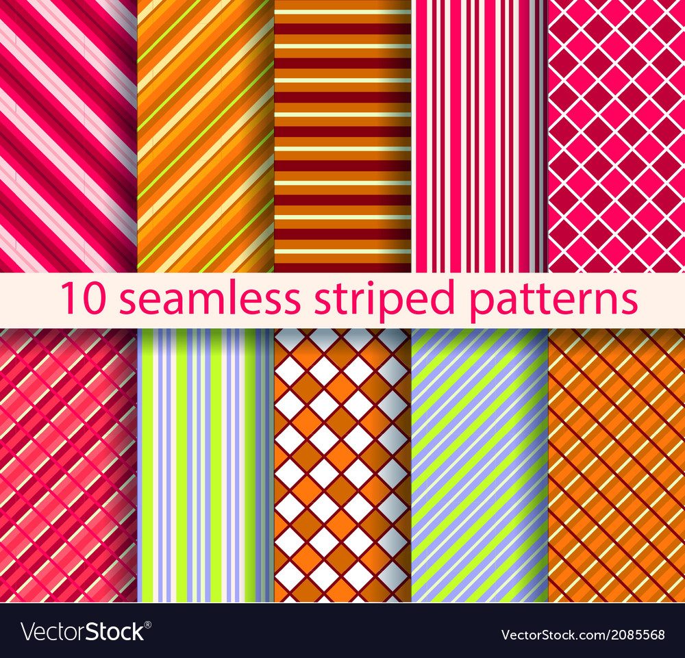 10 seamless patterns vector | Price: 1 Credit (USD $1)