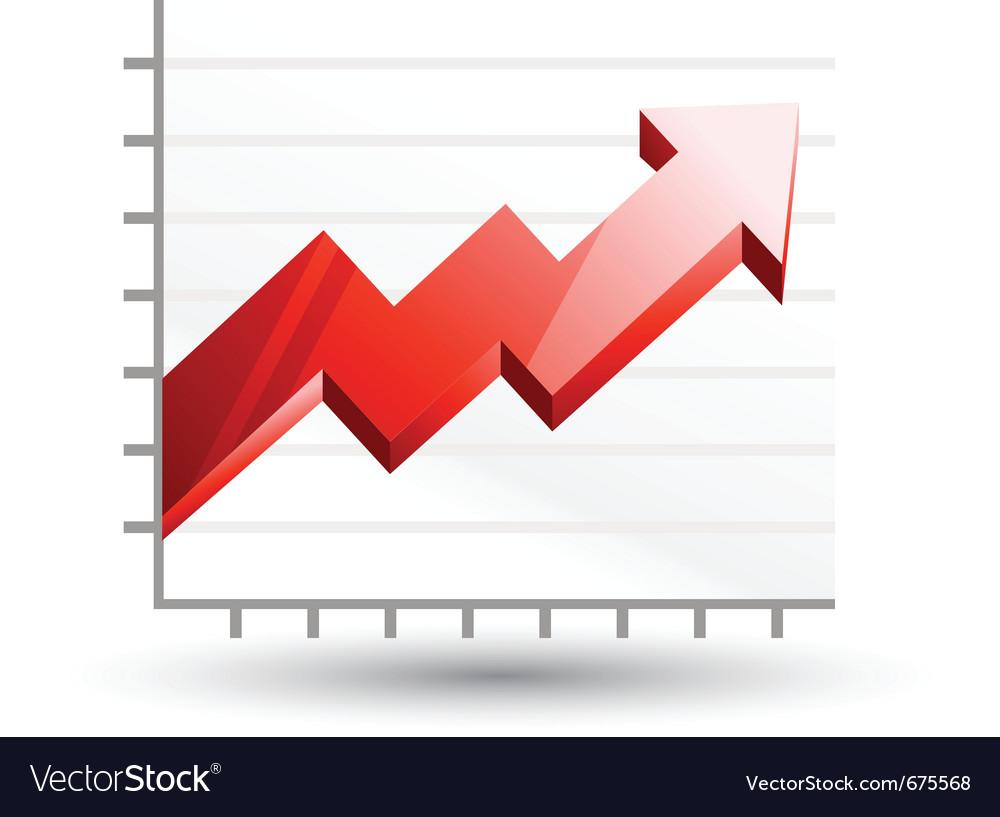 Arrow graph diagram vector | Price: 1 Credit (USD $1)
