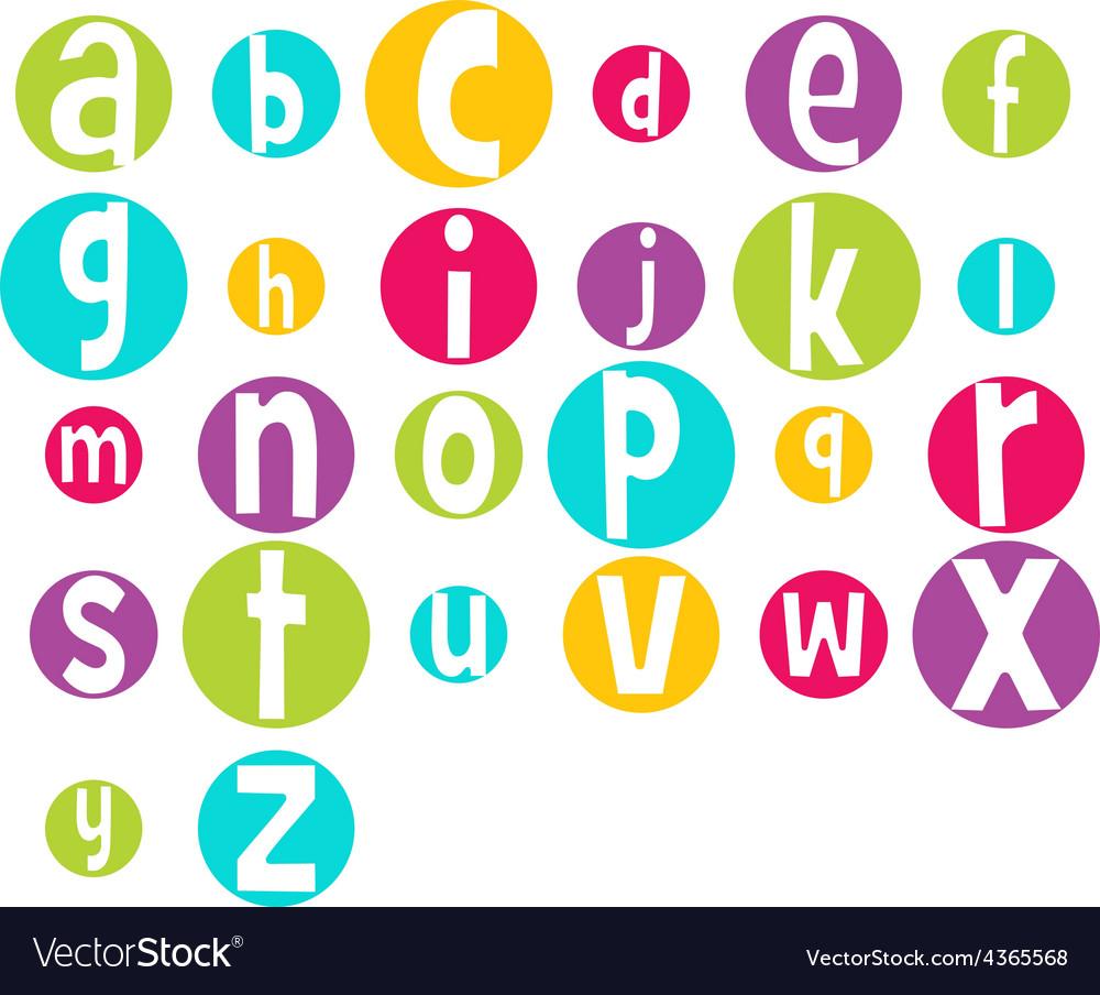 Crazy bright alphabet vector | Price: 1 Credit (USD $1)