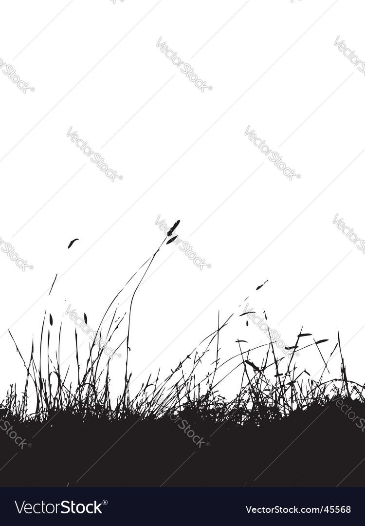 Grass silhouette black vector | Price: 1 Credit (USD $1)