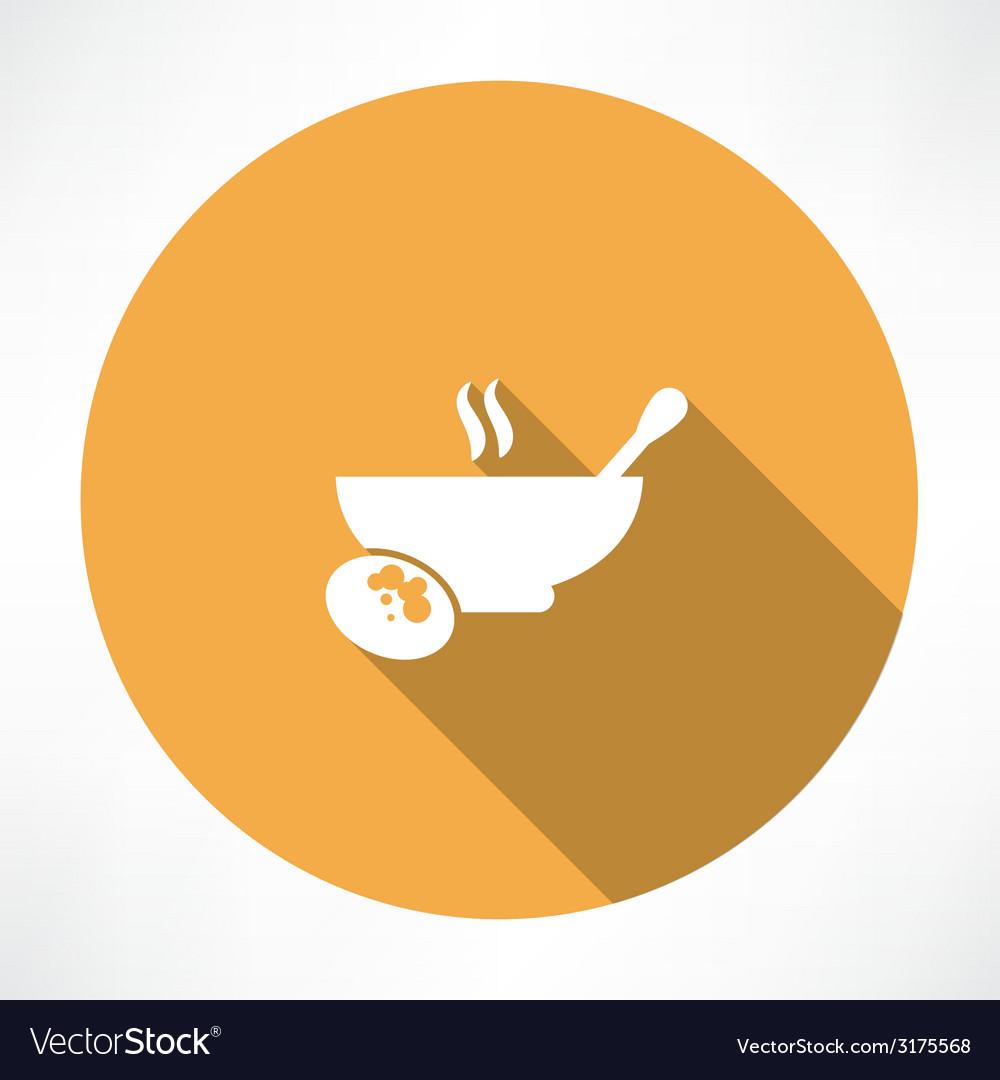 Hot food icon vector | Price: 1 Credit (USD $1)