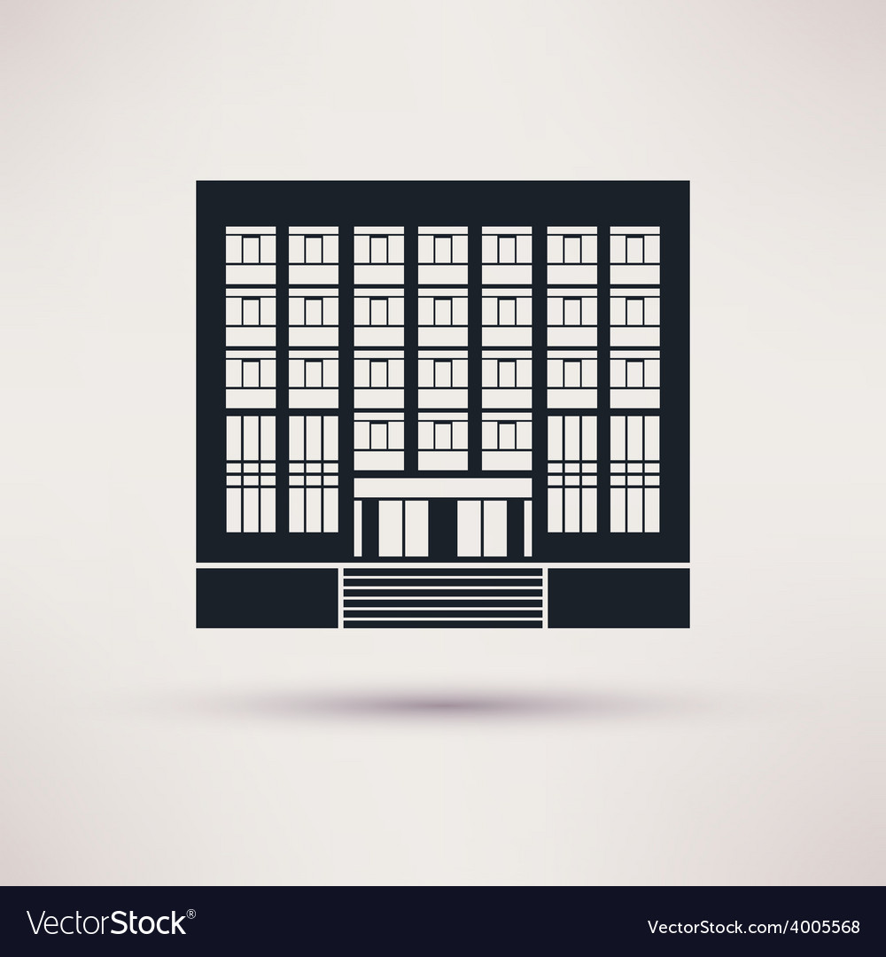 Institute university icon in the flat style vector | Price: 1 Credit (USD $1)