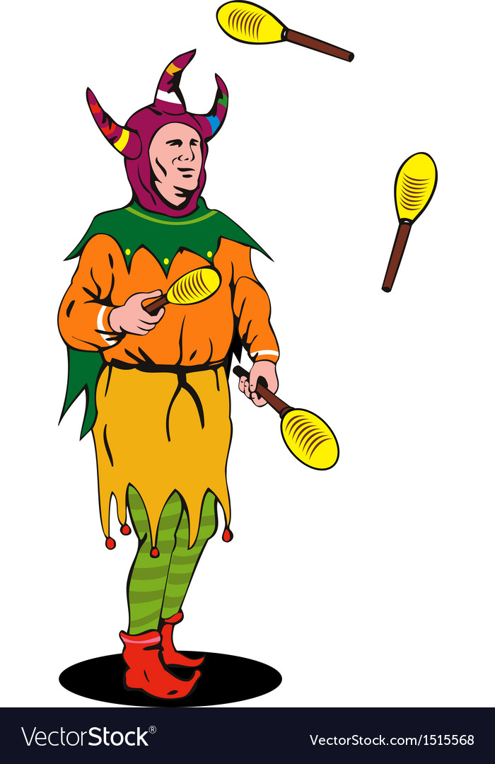 Jester juggling vector | Price: 1 Credit (USD $1)