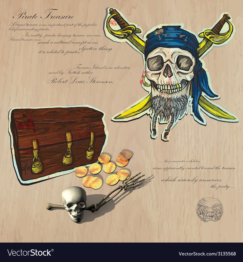 Pirates - buried treasure vector | Price: 1 Credit (USD $1)