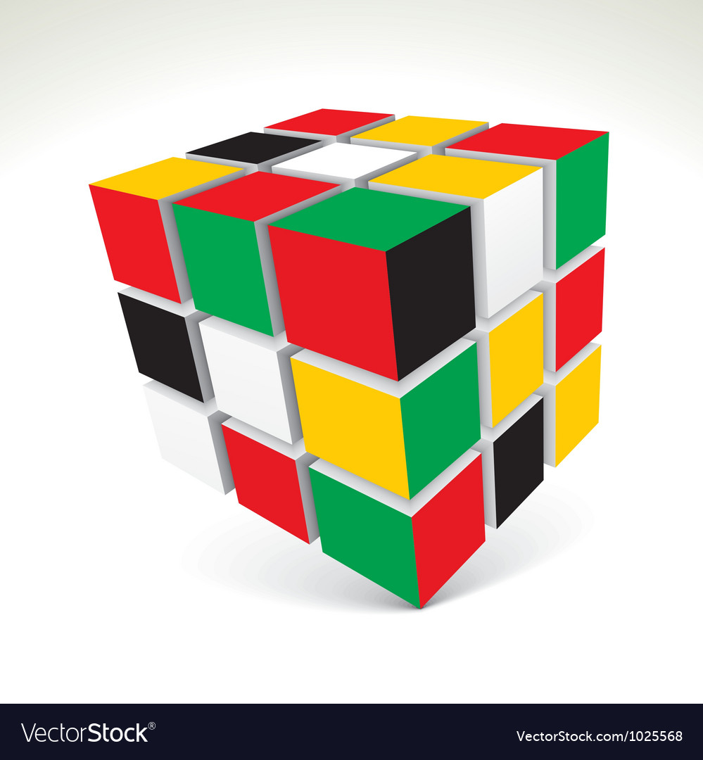 Rubiks cube vector | Price: 1 Credit (USD $1)