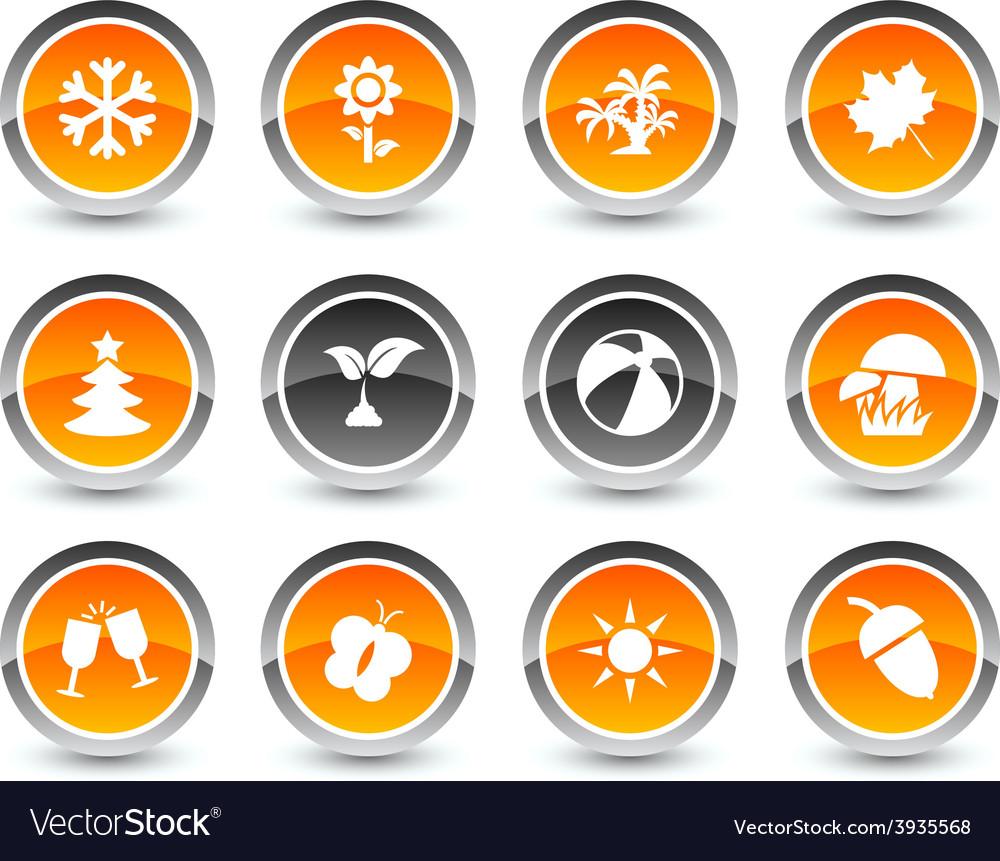 Seasons icons vector | Price: 1 Credit (USD $1)