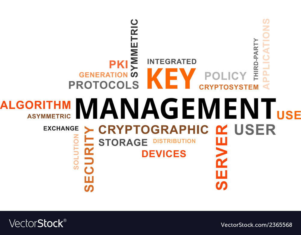 Word cloud key management vector | Price: 1 Credit (USD $1)