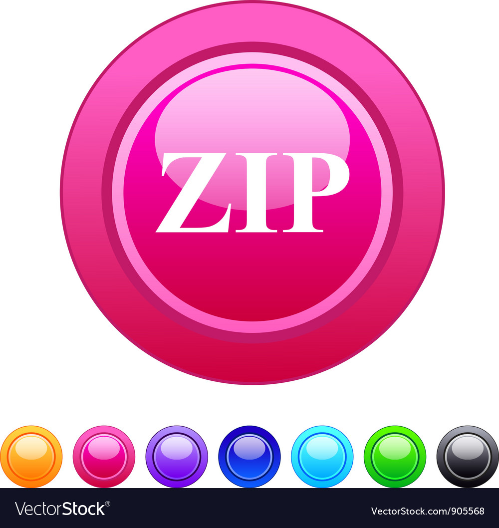 Zip circle button vector | Price: 1 Credit (USD $1)