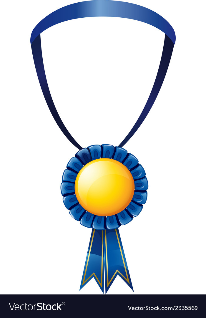 A blue medal vector | Price: 1 Credit (USD $1)